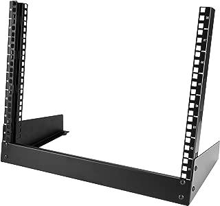 StarTech.com 8U Open Frame Rack - Steel - 2 Post Free Standing Desktop Server Room Rack for Computer / AV / Media & IT Equipment (RK8OD)