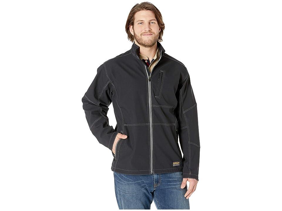 Ariat Big Tall Rebar Stretch Canvas Softshell Jacket (Black) Men