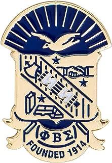 Desert Cactus Phi Beta Sigma Fraternity Crest Lapel Pin Enamel Greek Formal Wear Blazer Jacket (Gold Color Lapel Pin)