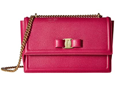 Salvatore Ferragamo Ginny Crossbody (Cerise) Handbags
