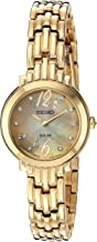 Seiko Women's Tressia Japanese-Quartz Watch with Stainless-Steel Strap, Gold, 10 (Model: SUP356)