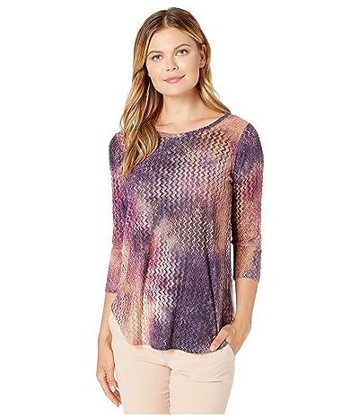 Karen Kane Burnout Shirttail Tee (Tie-Dye) Women