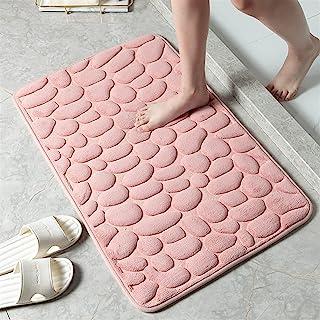 Ommda Miękka pianka z pamięcią kształtu mata łazienkowa antypoślizgowa kostka tłoczenie dywanik łazienkowy chłonny odporny...