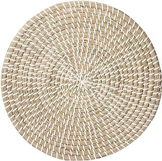 Secret de Gourmet - Set de Table en Osier Vannerie Blanc D 35 cm