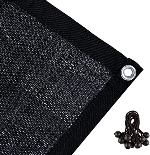 Agfabric 60% Greenhouse Shade Cloth Cover with Grommets 8' X 12', Black