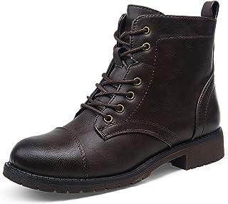 أحذية رياضية نسائية من VEPOSE عصرية للكاحل مناسبة للنساء, (جزمات للكاحل - 910 بني داكن), 39 EU