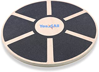 Yes4All Balance Boards Balance Trainers Exercise & Fitness Yes4All Wooden Wobble Balance Board – Exercise Balance Stability Trainer 15.75 inch Diameter - Black - ²DB6FZ DB6F, Black, 15.75