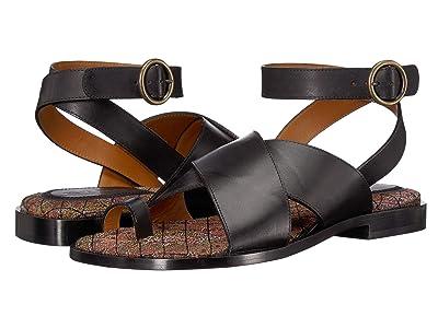 Etro Leather Sandal (Black) Women