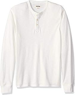 Camiseta t/érmica flameada de manga larga y cuello Henley para hombre Beige Marca EU 5XL - 6XL ivory US XXXL Tall Goodthreads