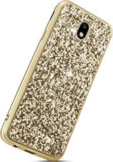 858914021b6 Herbests Estuche Reemplazo para Samsung Galaxy J7 2017 J730 Cárcasa  Glitter, Funda Silicona Lujo Lentejuelas