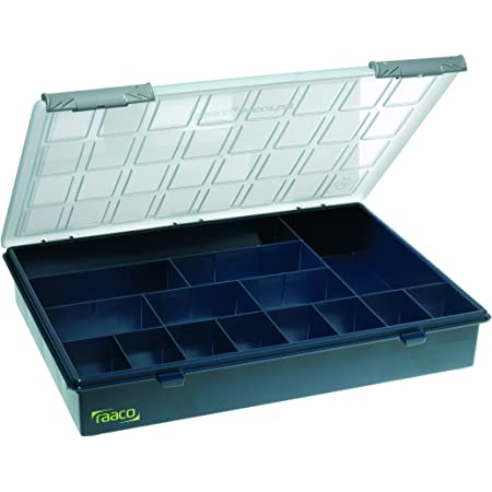 Raaco 136174 Caja clasificadora 4-15, Azul Oscuro