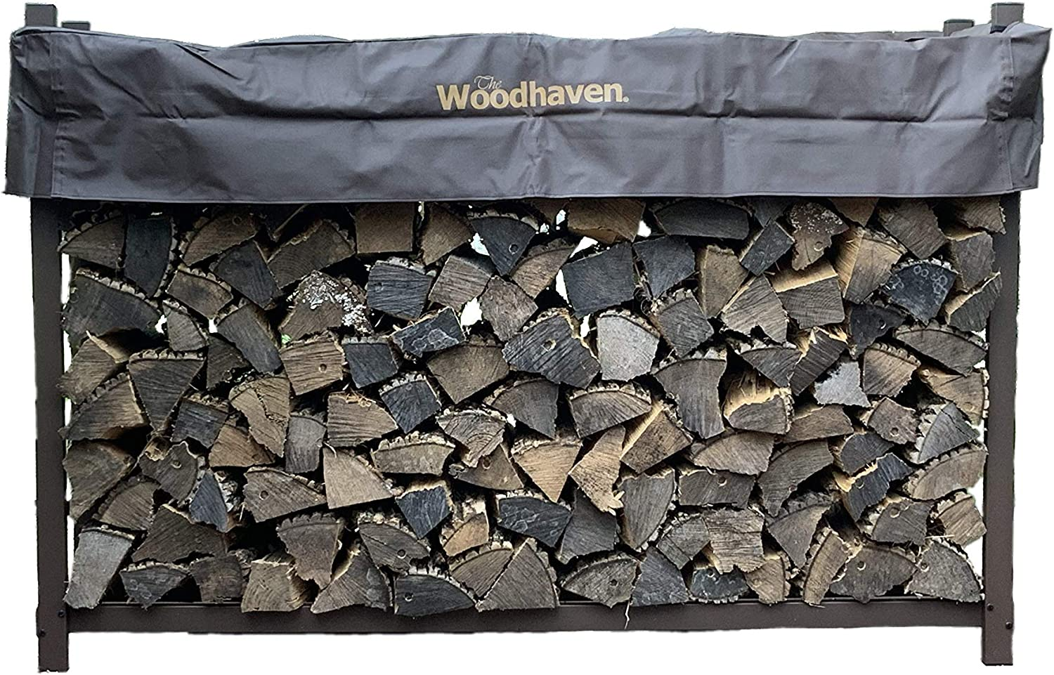 Woodhaven 96 Heavy-Duty Firewood Rack with Cover