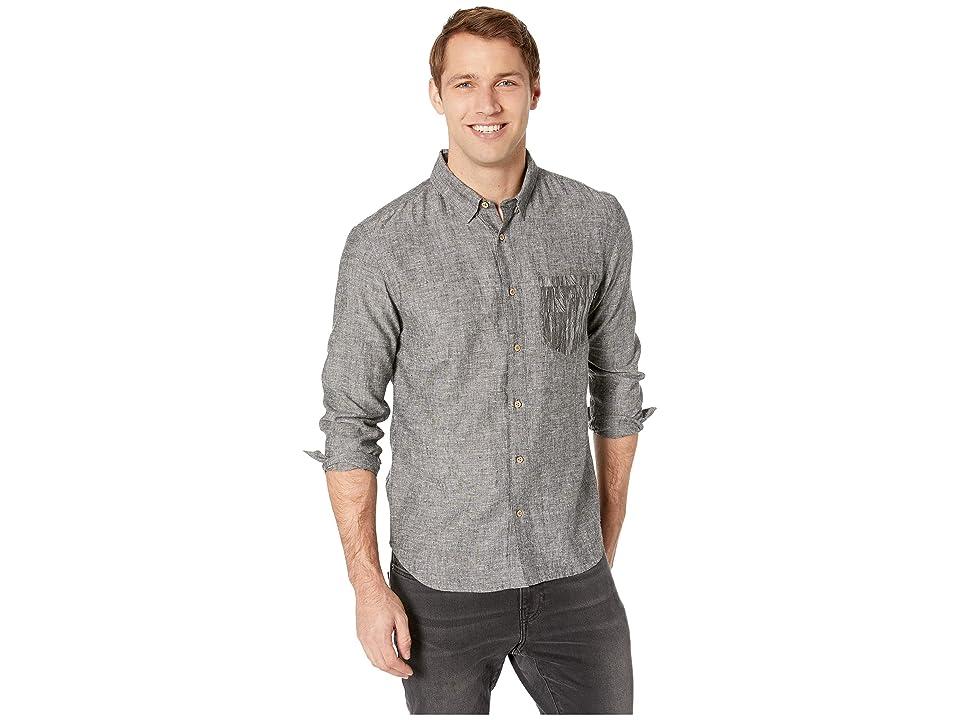 tentree Mancos Long Sleeve Button Up (Heathered Meteorite) Men