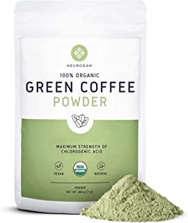 Neurogan Organic Green Coffee Bean Powder Extract with Ingredients to Help Support Normal Weight Loss - 7oz / 200g, Maximu...