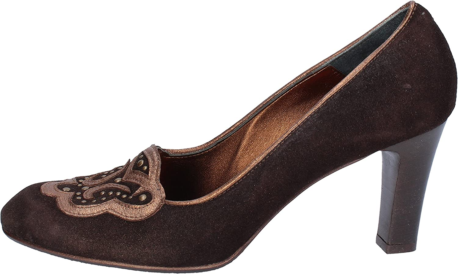 IL GRECO Pumps-shoes Womens Suede Brown 11 US