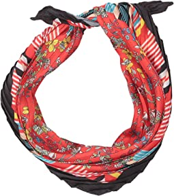 Matilda Printed Pleated Scarf
