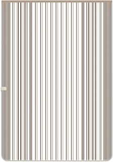 広電 電気毛布 掛敷毛布 おやすみタイマー付 188×130cm ブラウン/ボーダー CWK803ST