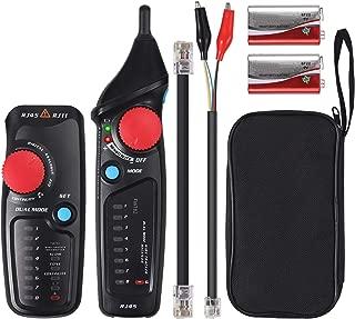 FairytaleMM Probador de cable de red profesional RJ45 RJ11 RJ12 CAT5 UTP LAN Cable Tester Detector Herramientas de prueba remota Redes