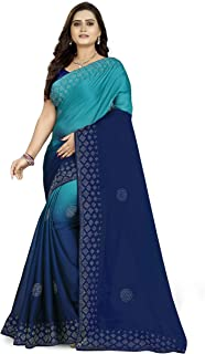 Arriva Fab georgette with Blouse Piece Saree