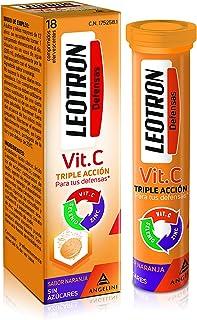 LEOTRON Vitamina C - 18 Comprimidos - Complemento alimenticio con vitamina C. zinc y selenio con edulcorantes
