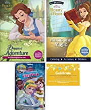 Disney Beauty and the Beast Coloring Experience Bundle, Two Beauty and the Beast Coloring books (Dream of Adventure: An Enchanting Coloring Book and Music) and One Disney Princess Coloring Play Pack