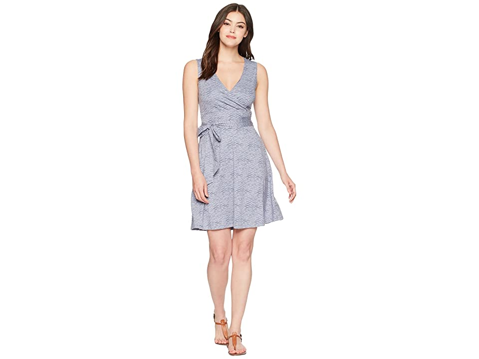 Toad&Co Cue Wrap Sleeveless Dress (Lilac Wave Print) Women