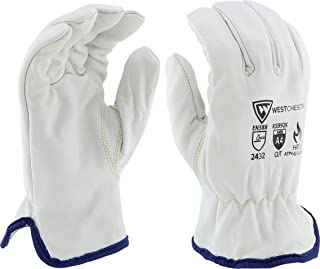 West Chester KS992K/L Cow Driver with Cut Lining, White, Large