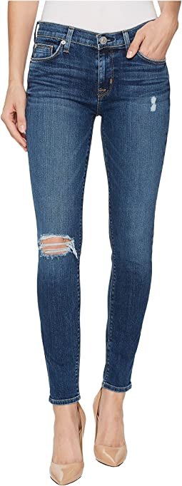 Hudson - Nico Mid-Rise Ankle Super Skinny Jeans in Jigsaw