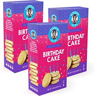 Goodie Girl Gluten Free Cookies, Birthday Cake Cookies, Certified Gluten Free, Peanut Free, Egg Free and Kosher (10.6oz Boxes, Pack of 3)