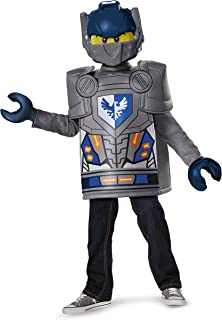 Disguise Clay Classic Lego Nexo Knights Costume, Gray, Small (4-6)