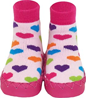 Konfetti Heart n Sole Slipper Sock Swedish Moccasin