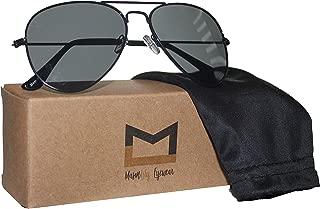 Polarized Aviator Sunglasses for Men and Women with UV400 protection by MasonLily Eyewear