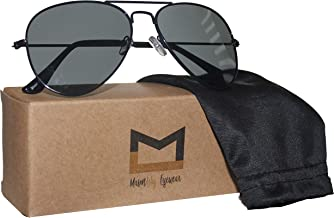 Polarized Aviator Sunglasses for Men and Women with UV400 protection by MasonLily Eyewear