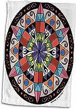 3D Rose Hex Sign 1 Pennsylvania Dutch Luck Protection Symbol TWL_23186_1 Towel, 15 x 22