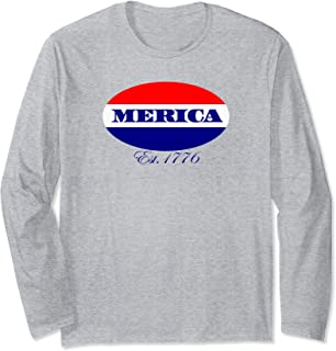 Best merica est 1776 long sleeve shirt Reviews