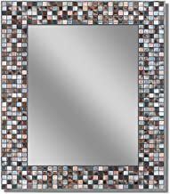 Headwest Earthtone Copper-Bronze Mosaic Tile Wall Mirror, 24 inches by 30 inches, 24