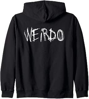 WEIRDO Emo Funny Goth Heavy Metal Kawaii Weird Gift Zip Hoodie