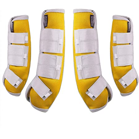 Harrison Howard Fly Boots Horse Fly Leg Guards Amethyst Set of 4