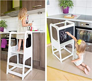 Kitchen tower with chalkboard