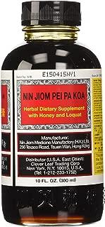 Honey and Loquat Syrup/Nin Jiom Pei Pa Koa Dragon Herbs 10 fz oz (300 ml) Liquid