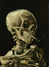 Palace Learning Vincent Van Gogh (Skull with Cigarette, 1885) Art Poster Print - 18 x 24 LAMINATED - Van Gogh Skeleton