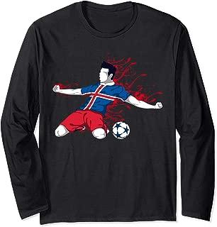 Iceland National Soccer Team Jersey Icelandic Football Gifts Long Sleeve T-Shirt