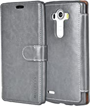 Mulbess LG G4 Wallet Case - LG G4 Leather Case PU - Ultra Slim - Credit Card Slot - Leather Flip Case for LG G4 - Gray
