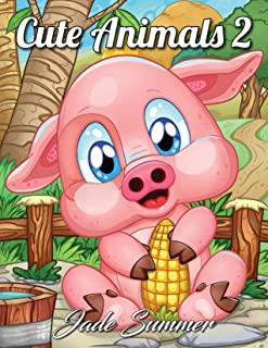 Cute Animals 2: A Coloring Book with Fun, Easy, and Relaxing Coloring Pages for Animal Lovers