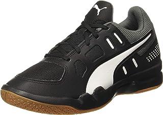 Puma Unisex Kid's Auriz Jr Black White-Castleroc Badminton Shoes