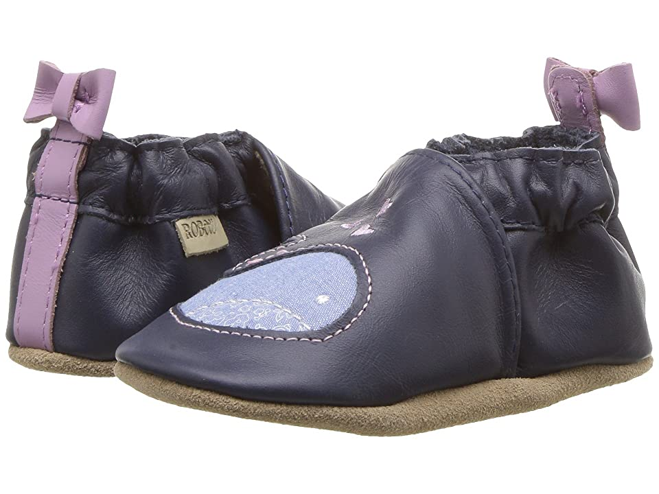 Robeez Poppy Whale Soft Sole (Infant/Toddler) (Navy) Girl