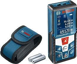 Bosch Professional GLM 50 C - Medidor láser de distancias (alcance 50 m, inclinómetro, conexión Bluetooth™, con funda)