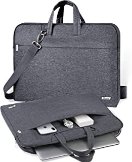 "V Voova 17 17.3 inch Laptop Bag Case,Waterproof Computer Sleeve Cover With Shoulder Strap & Handle Compatible with MacBook Pro 16 17""/HP/Lenovo/ASUS/Samsung Ultrabook Notebook Bag,Gray"