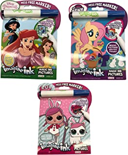 Imagine Ink Coloring Book Set for Girls: Featuring Princess, My Little Pony and More