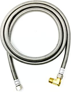 Shark Industrial Premium Stainless Steel Dishwasher Hose - 6 FT No-Lead Burst Proof Water Supply Line 3/8
